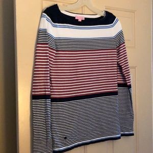 Lilly Pulitzer striped sweater size medium